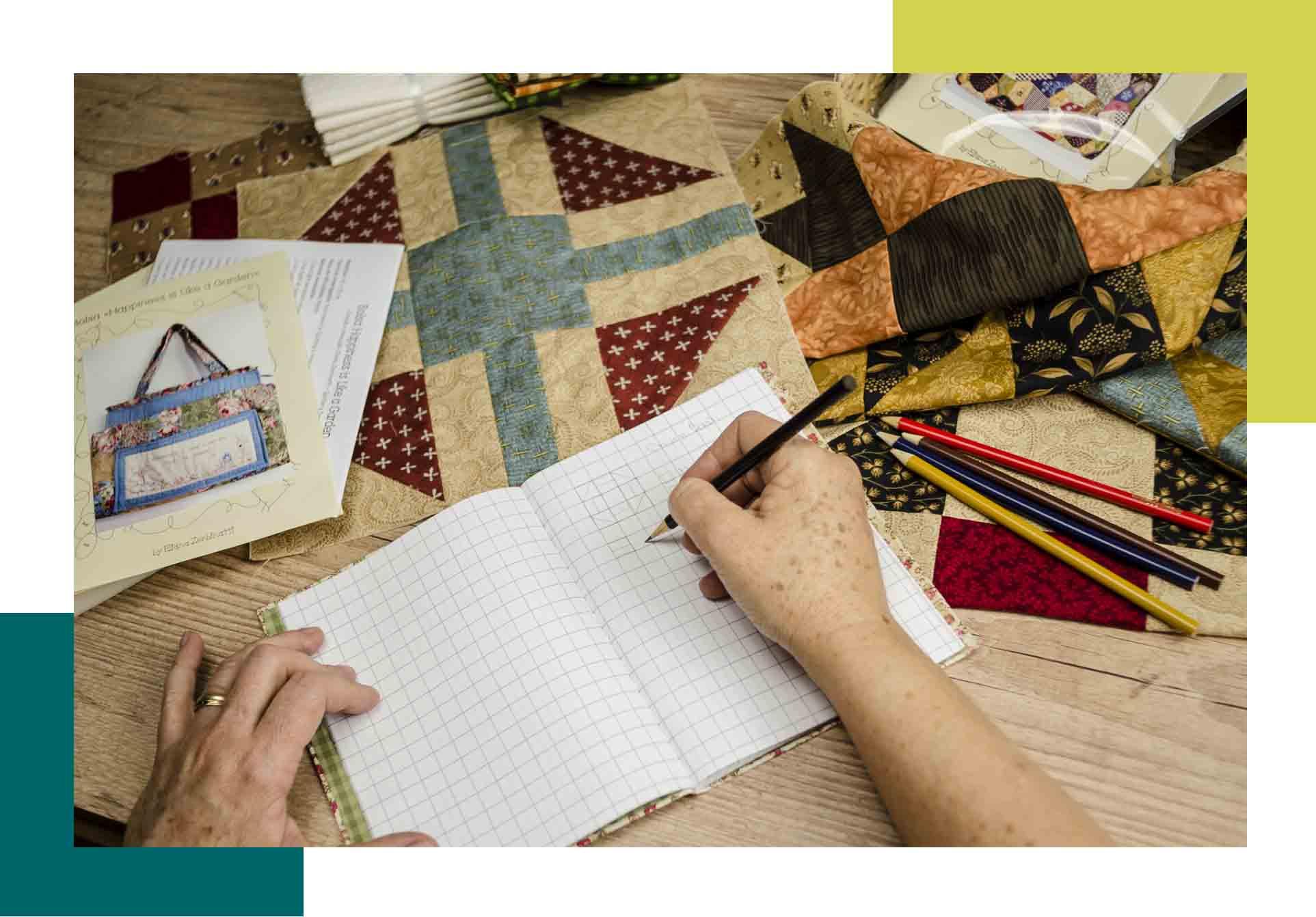 Curso de patchwork e de ideias criativas