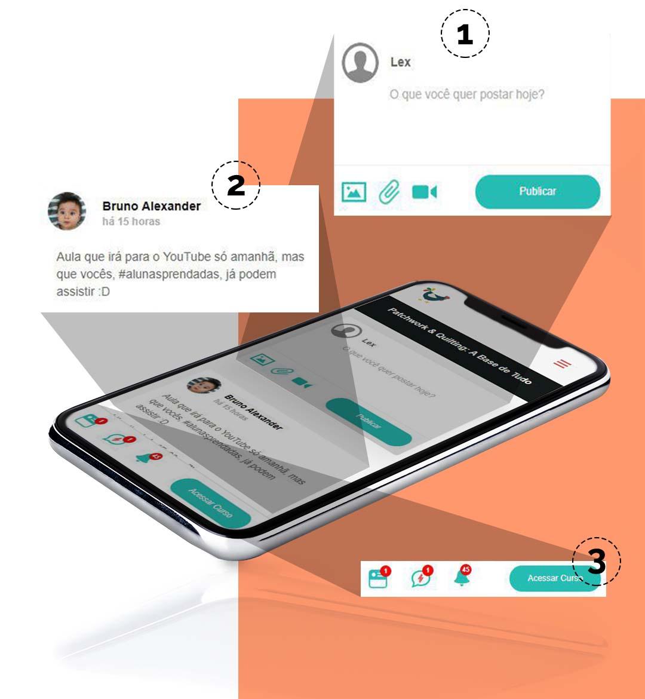 Ambiente mobile de aprendizagem social da Hotscool